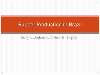 Rubber Production in Brazil