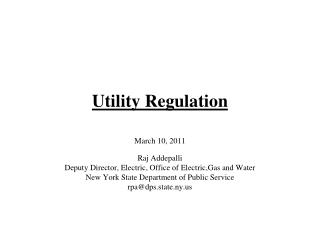 Utility Regulation