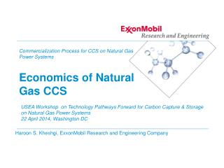 Commercialization Process for CCS on Natural Gas Power  Systems Economics of Natural Gas CCS