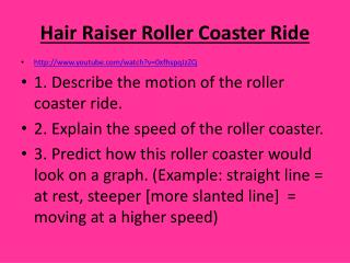 Hair Raiser Roller Coaster Ride