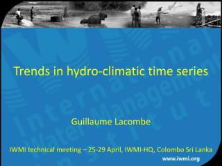 Trends in hydro-climatic time series