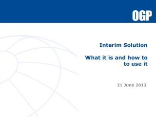 Interim Solution What it is and how to  to use it