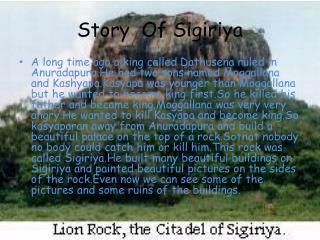 Story Of Sigiriya