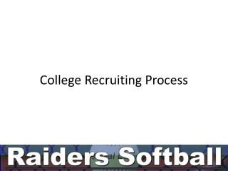 College Recruiting Process