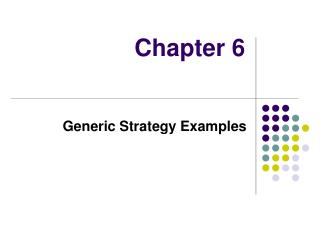 Generic Strategy Examples
