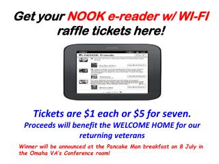 Get your  NOOK e-reader w/ WI-FI  raffle tickets here!
