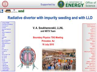 Radiative divertor with impurity seeding and with LLD