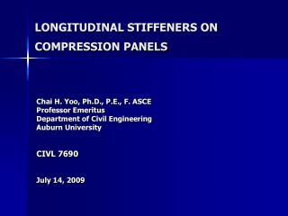 LONGITUDINAL STIFFENERS ON COMPRESSION PANELS