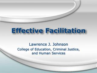 Effective Facilitation
