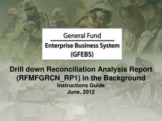 TC RFMFGRCN\_RP1 ( Reconciliation Analysis Report )
