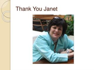 Thank You Janet