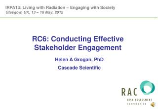 RC6: Conducting Effective Stakeholder Engagement