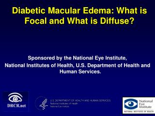 Diabetic Macular Edema: What is Focal and What is Diffuse?