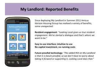 My  Landlord: Reported Benefits