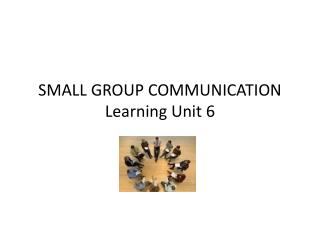 SMALL GROUP COMMUNICATION Learning Unit 6