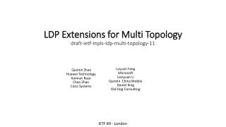 LDP Extensions for Multi Topology draft-ietf-mpls-ldp-multi-topology-11