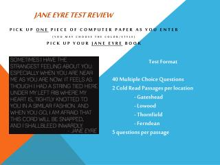 Jane Eyre Test Review