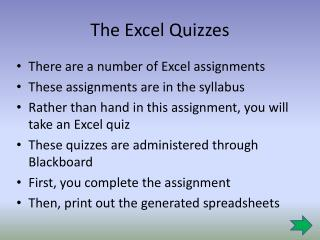 The Excel Quizzes