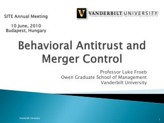 Behavioral Antitrust and Merger Control