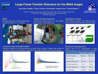 Large Frame Transfer Detectors for the MAIA imager