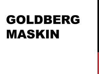 Goldberg maskin
