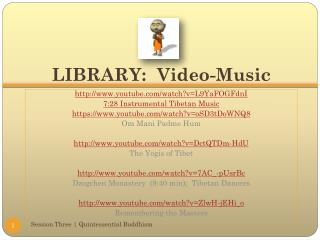 LIBRARY:  Video-Music