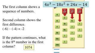 The first column shows a sequence of numbers.