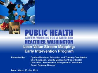 Lean Value Stream Mapping:   Early Intervention Program