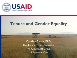 Tenure and Gender Equality