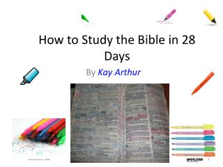 How to Study the Bible in 28 Days