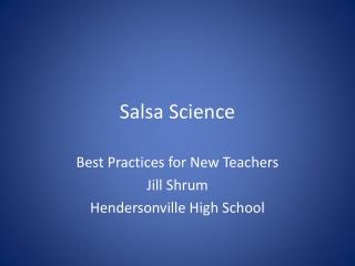 Salsa Science
