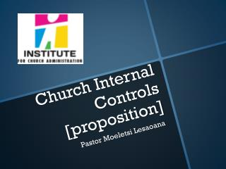 Church Internal Controls [proposition]