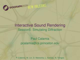 Interactive Sound Rendering