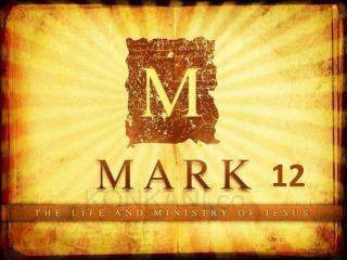 Mark 12:1-12  The  Parable of the  Tenants
