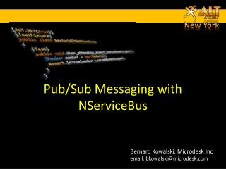 Pub/Sub Messaging with  NServiceBus