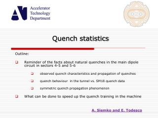 Quench statistics