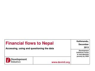Financial flows to Nepal