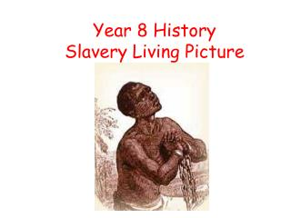 Year 8 History  Slavery Living Picture