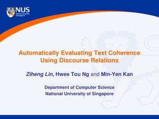 Automatically Evaluating Text Coherence  Using Discourse Relations