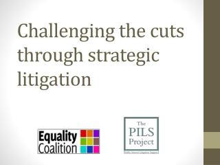 Challenging  the cuts through strategic litigation