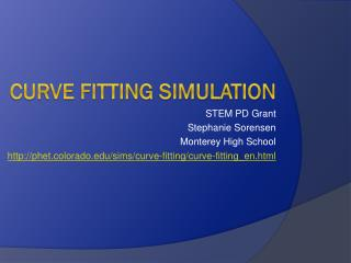 Curve Fitting Simulation