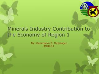 Minerals Industry Contribution to the Economy of Region 1