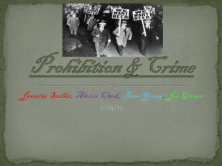 Prohibition & Crime