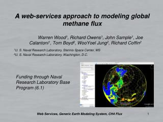 A  web -services approach to modeling global methane  flux