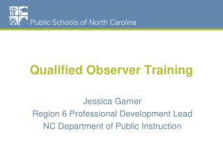 Qualified Observer Training