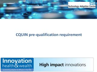 CQUIN pre-qualification requirement