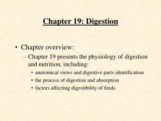 Chapter 19: Digestion