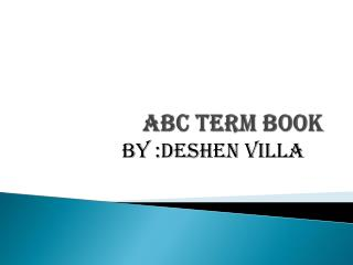 Abc Term book