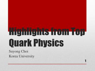 Highlights from Top Quark  Physics