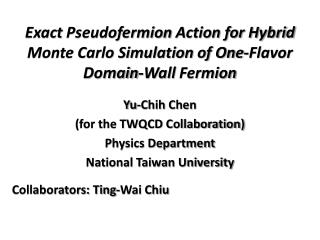 Exact  Pseudofermion  Action for Hybrid Monte Carlo Simulation of One-Flavor Domain-Wall  Fermion